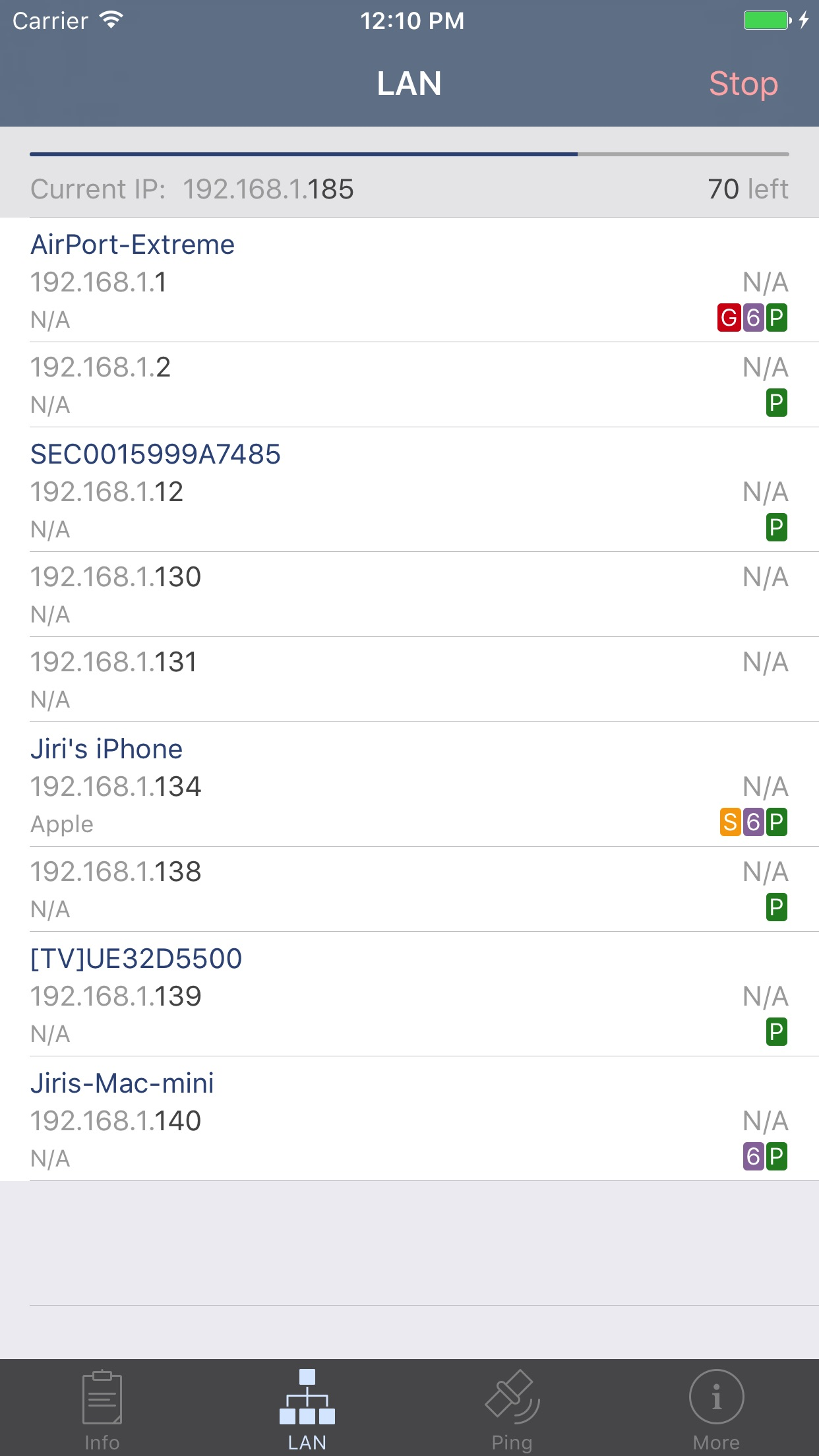 Network Analyzer Screenshot