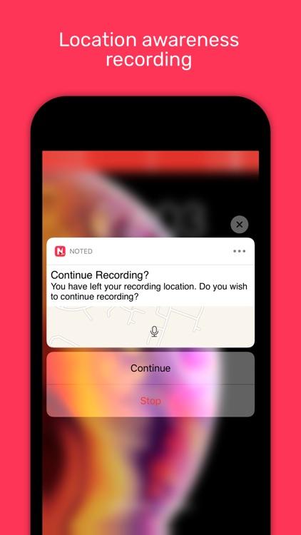 Noted: Notepad, Audio Recorder screenshot-8