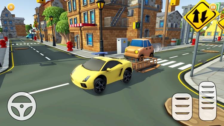 Mini City Pizza Delivery Car screenshot-3