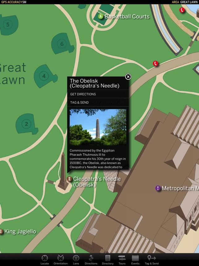 myNav Central Park on the App