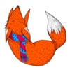 Lovely Red Fox Foxmoji Sticker