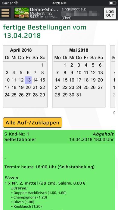 Bringbutler-KassenprogrammScreenshot von 4