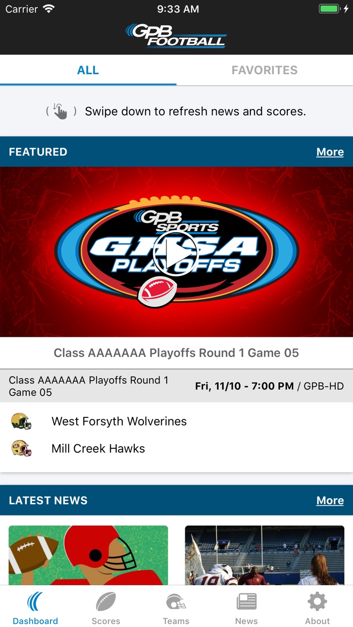 GPB Sports: Football Screenshot