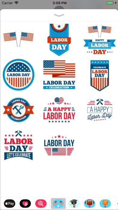 Animated Labor Day Stickers screenshot 1