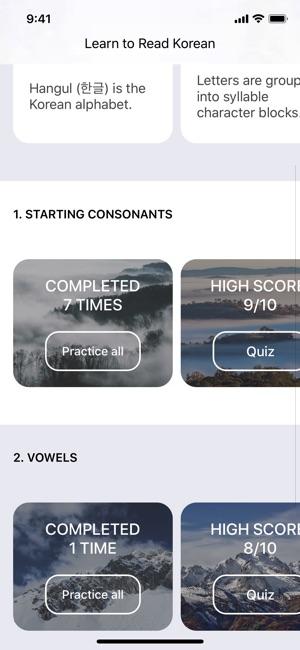 Learn Korean Hangul Alphabet on the App Store