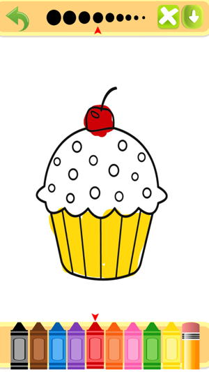 Cute Tasty Cupcakes Coloring Book Full on the App Store
