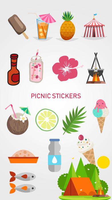 点击获取Picnic & Fun Loving Stickers