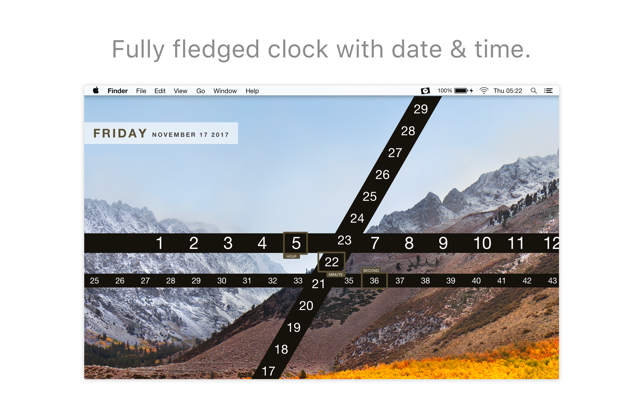Ribbon - Wallpaper Clock on the MacAppStore