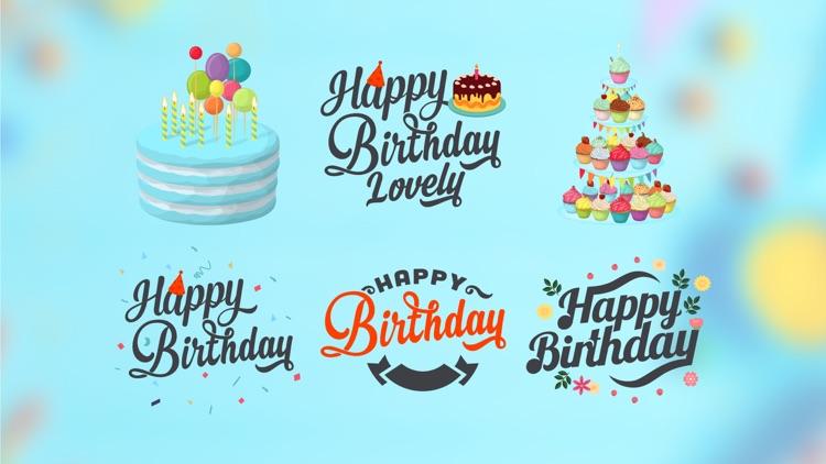 Birthday Sticker for iMessage screenshot-3