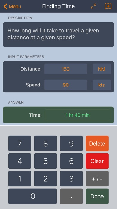 E6B Aviation Calculator screenshot one