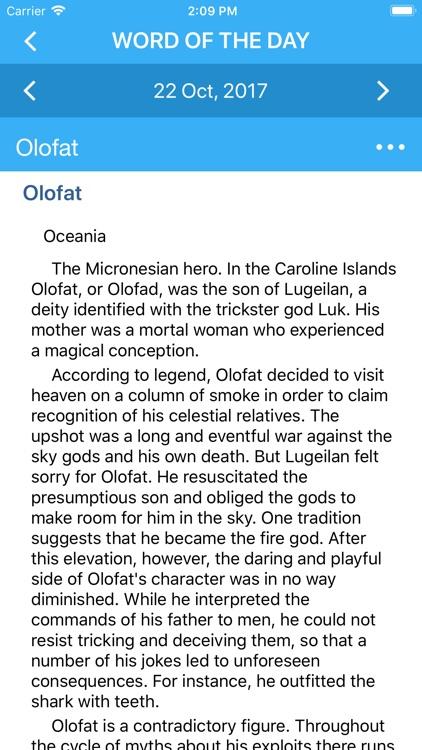 Oxford Dictionary of Mythology