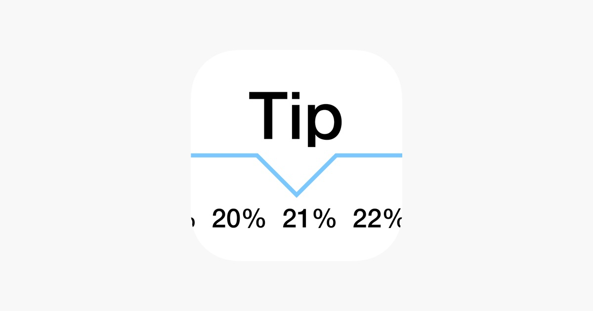 Tip calculator 'Tipping made easy' on the App Store