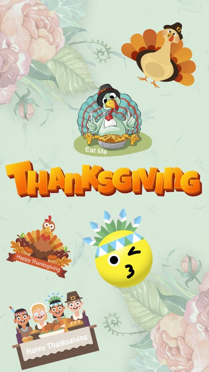 Fun Thanksgiving Sticker screenshot-3