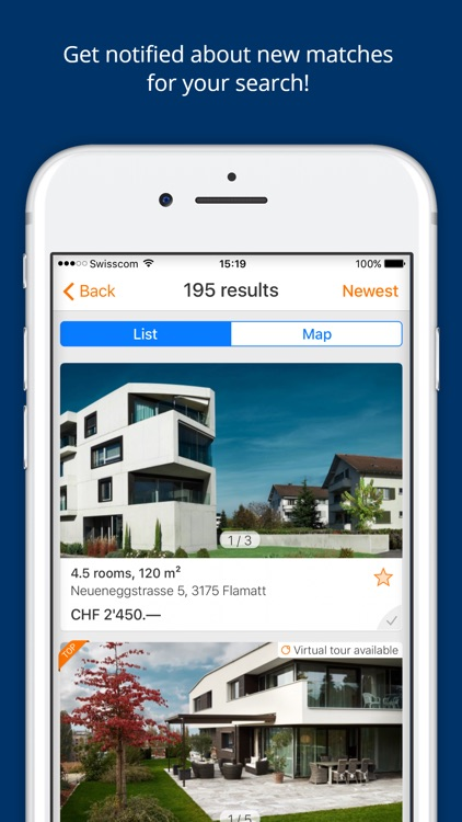 ImmoScout24 Switzerland: Rent or buy a flat/house screenshot-4