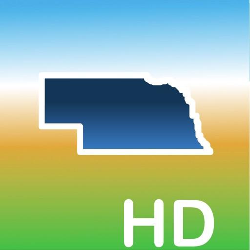 Aqua Map Nebraska Lakes GPS HD