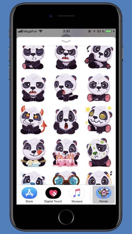 pandaSTiK sticker for iMessage