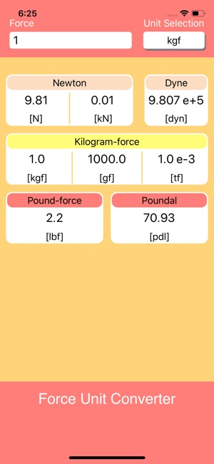 Force Unit Converter on the App Store