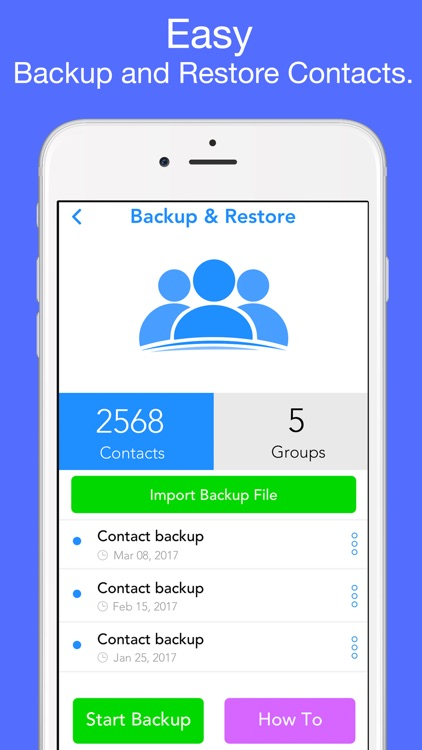 Contacts Backup - Restore