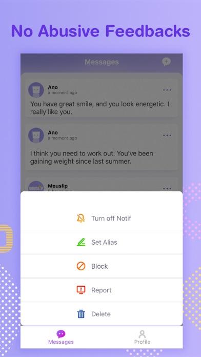 Mouslip - anonymous feedbacks screenshot four