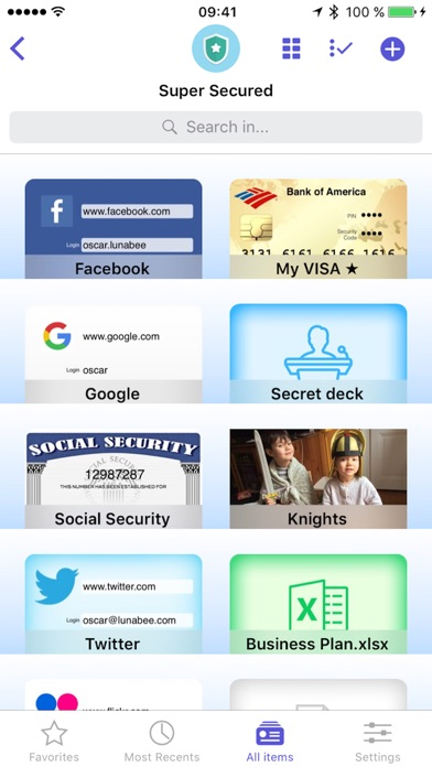oneSafe 4 password manager Screenshots