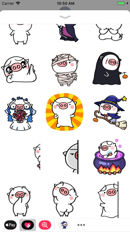 Fatty Pig Animated Stickers