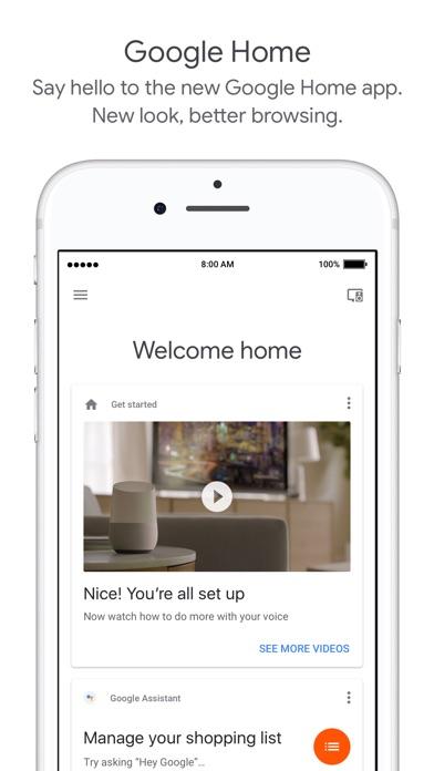 Google Homeのスクリーンショット1