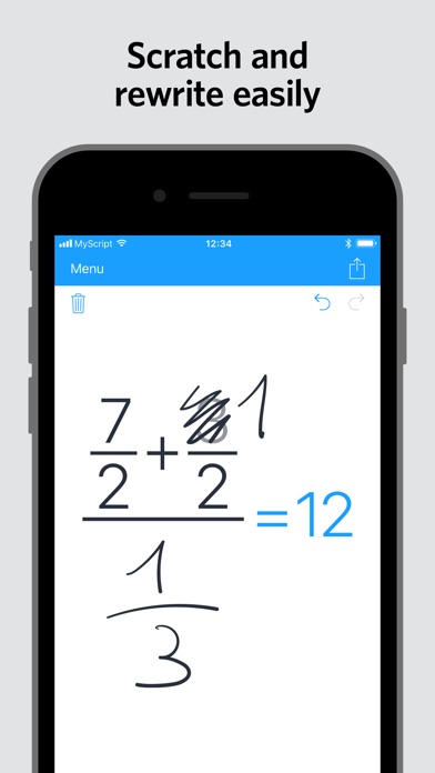 MyScript Calculator Screenshots