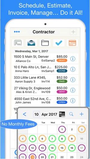 Contractor Estimate Invoice On The App Store - Contractor estimate and invoice