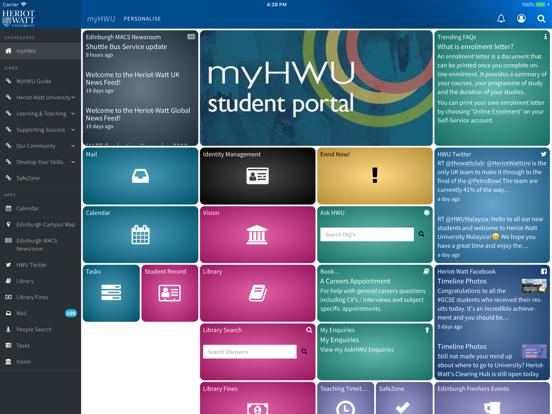 myHWU screenshot 5
