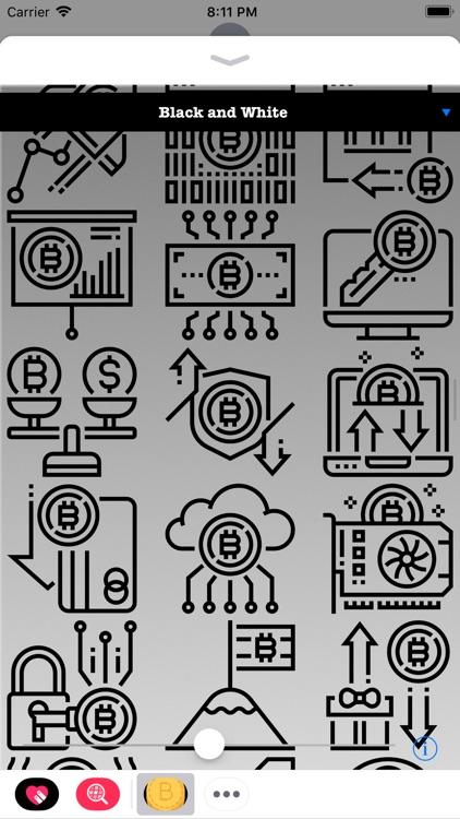 Bitcoin Stickers HODL screenshot-4