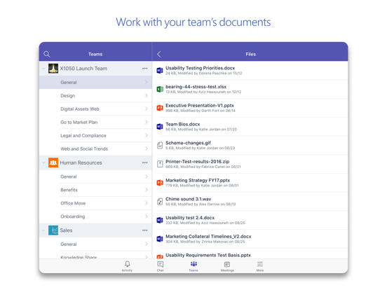 Microsoft Teams Screenshots