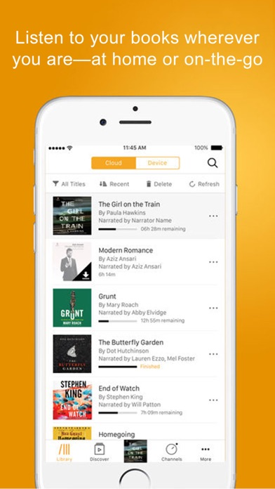 Screenshot 1 for Audible's iPhone app'