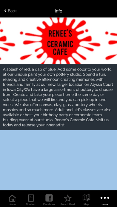 Renee's Ceramic Cafe Screenshot on iOS
