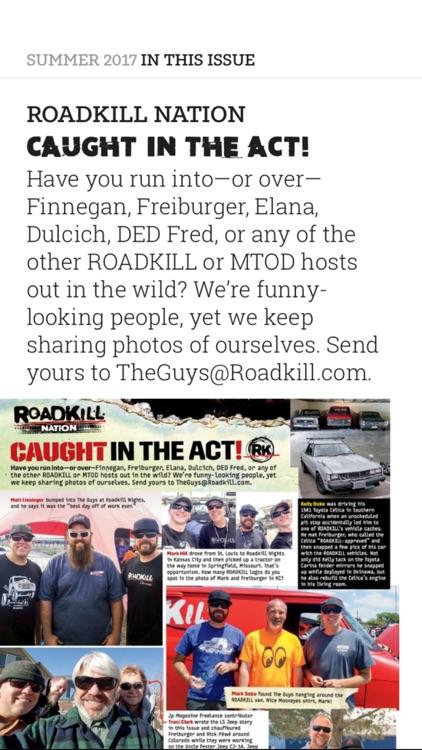 Roadkill Magazine screenshot-3
