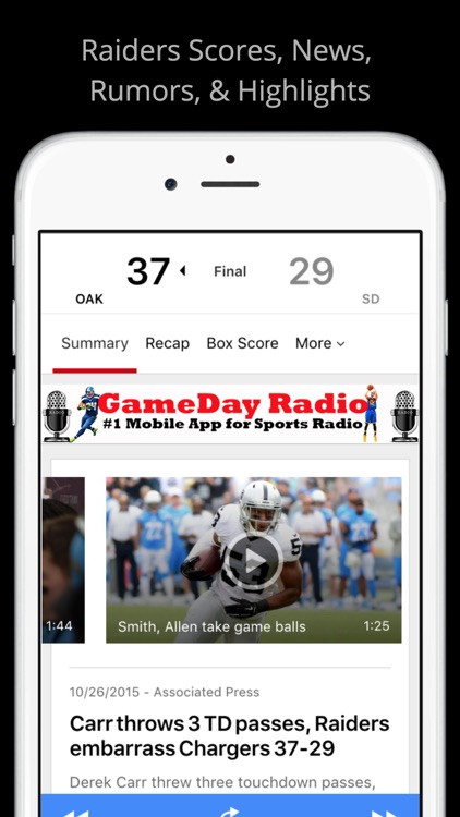 Oakland GameDay Radio - Raiders Warriors A's screenshot-3