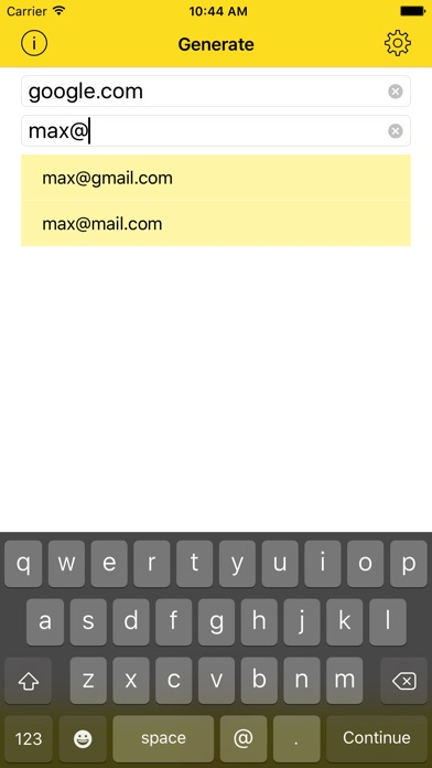 Passwort - Unique passwords iPhone