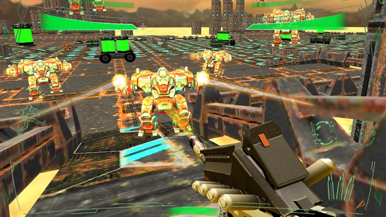 Futuristic Mech Robots Battle screenshot-0