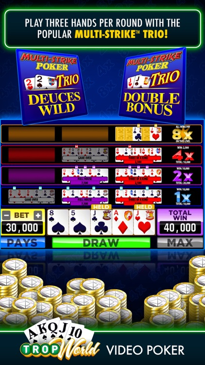 TropWorld Video Poker screenshot-7