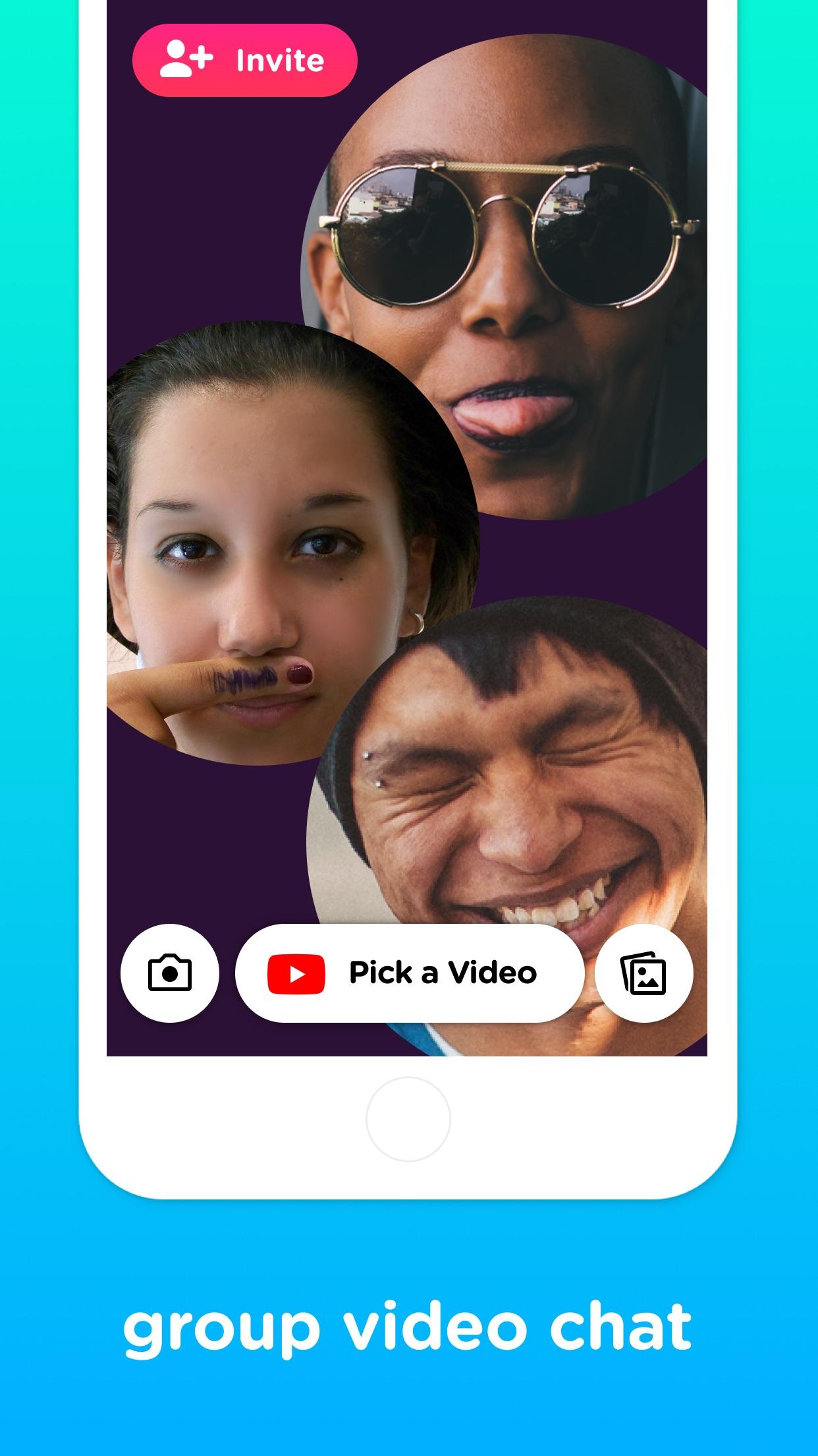 Screenshot do app Uptime – video chat w/ YouTube