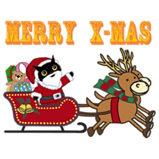 Black Cat At Christmas Sticker