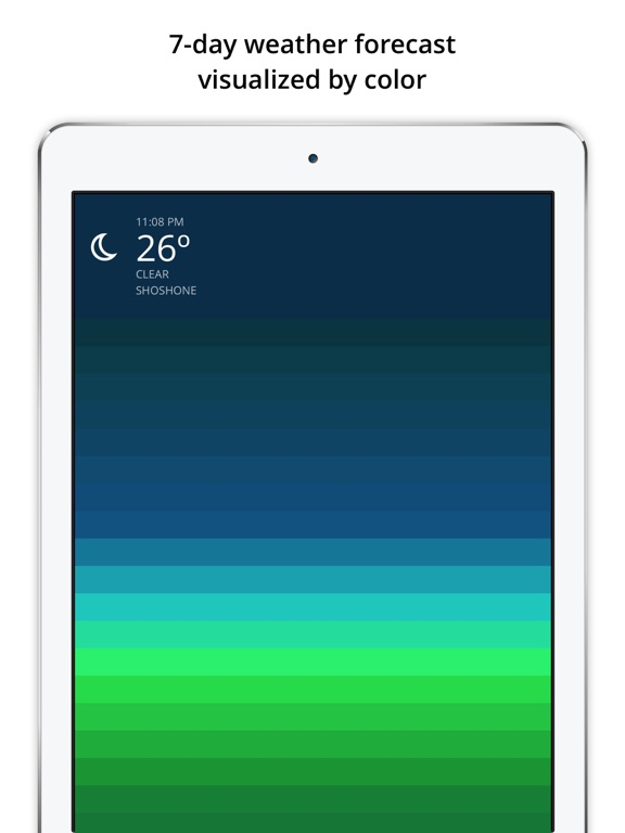 Blue - weather forecast Screenshot