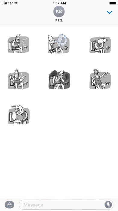 Love of Funny Couple Sticker screenshot 3