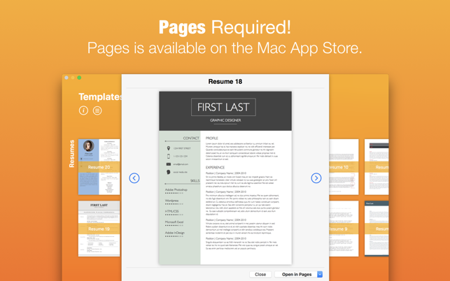 Templates for pages nobody on the mac app store for App store screenshot template