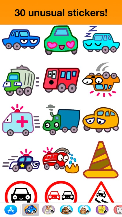 Cars - Unusual stickers