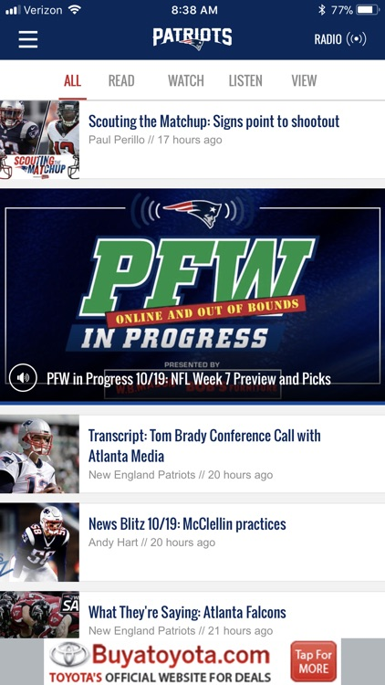 New England Patriots screenshot-0