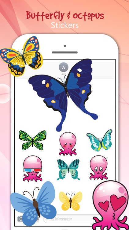 Butterfly & Octopus Stickers