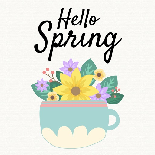 Hello Spring - Hand Drawn