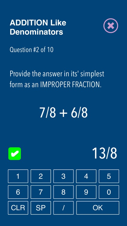 Practice Fraction puzzels screenshot-5
