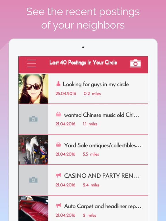 my circle - nearby classifieds and craigslist screenshot