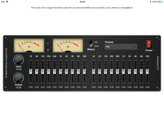 Stereo Graphic EQ AUv3 Plugin screenshot 3